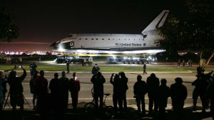 Space Shuttle Endeavour on its way home