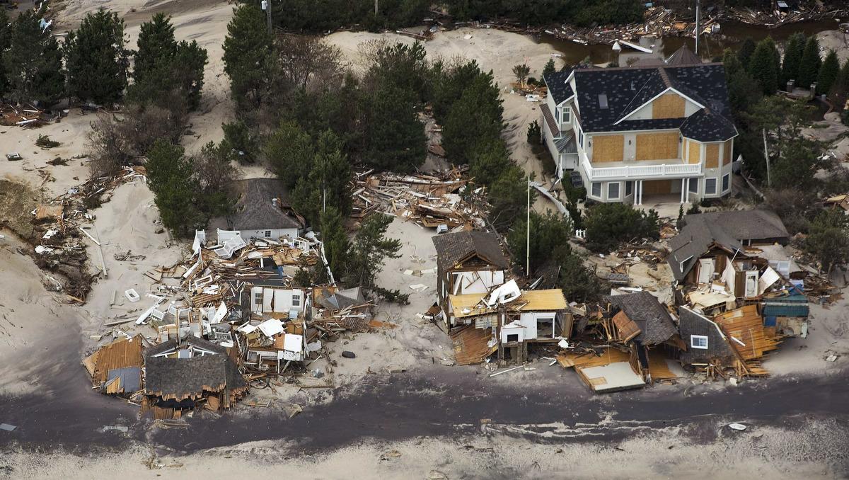 Aerial images of hurricane sandy s destruction for Lavallette nj