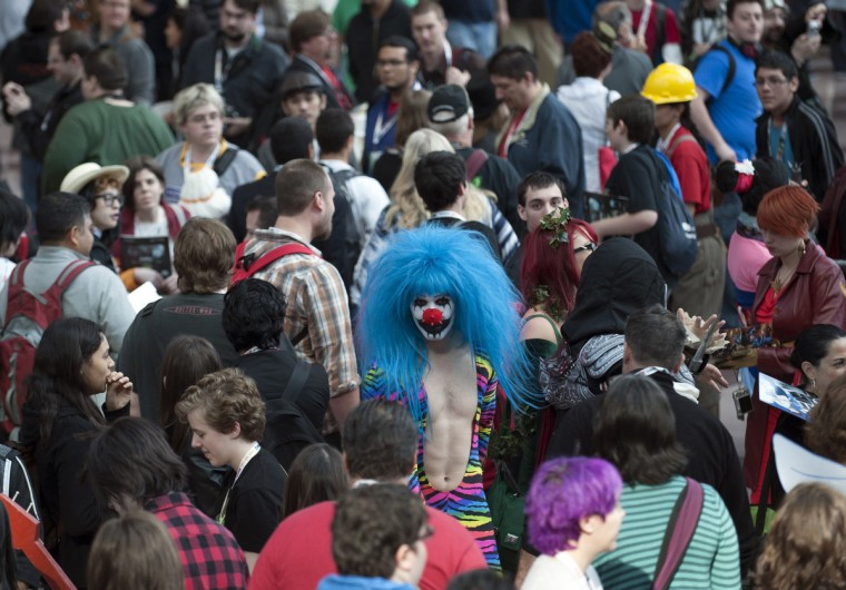 Crowds make their way through Comic Con at the Jacob Javitz Center in New York. (Keith Bedford/Reuters)