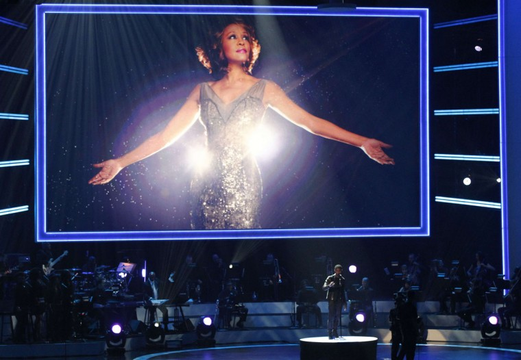Singer Usher performs during the taping of 'We Will Always Love You: A Grammy Salute To Whitney Houston' at the Nokia theatre in Los Angeles, California October 11, 2012. The program will air on November 16. (Mario Anzuoni/Reuters)