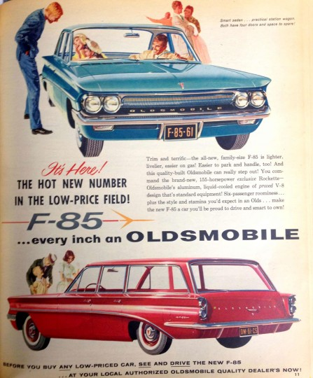 Oldsmobile. Sunday Sun Magazine. October 9, 1960. (Courtesy: The Baltimore Sun)