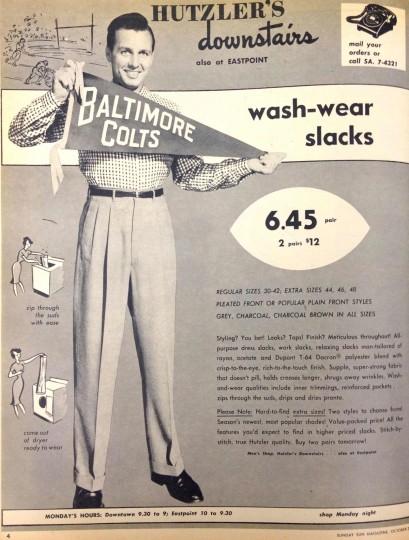 Hutzler's. Sunday Sun Magazine. October 2, 1960. (Courtesy: The Baltimore Sun)
