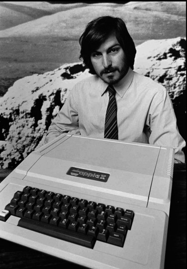 This is a 1977 file photo of Apple Computer Inc. founder Steve Jobs as he introduces the new Apple II in Cupertino, Calif. Apple Computer was formed on April Fool's Day in 1976. (Apple Computers Inc./AP Photo)
