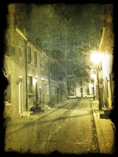 BEST USE OF FILTERS: This night photo is taken somewhere around Lancaster Street in Fells Point, with an antique post-processing filter. The quietness and the lights made for a nostalgic moment. (Photo by Christos Kontogeorgakis)