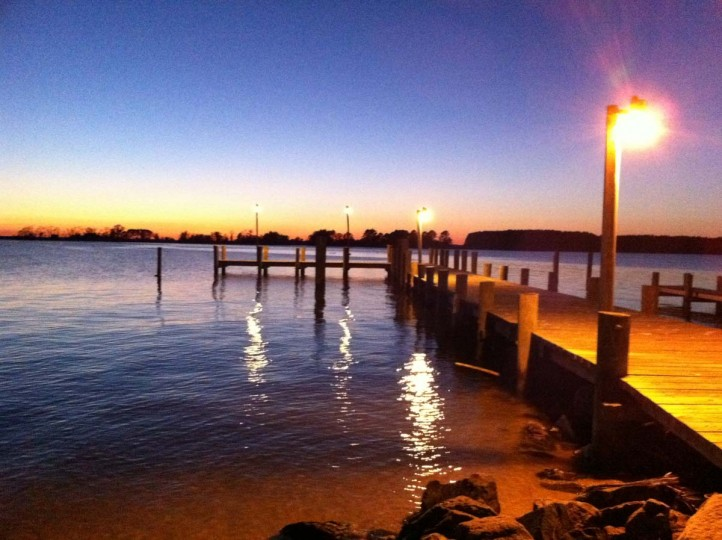 BEST SUNRISE/SUNSET: The photographer shot this picture at the Potomac River Pier at sunset with an iPhone 4. (Photo by Mitch Zeissler)
