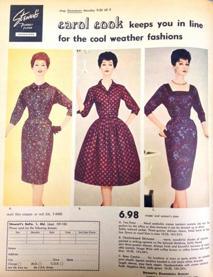 Stewart's. Sunday Sun Magazine. October 30, 1960. (Courtesy: The Baltimore Sun)