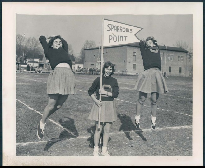 1950: Sparrow Point students perform at a game. (Clarence B. Garret/Baltimore Sun)