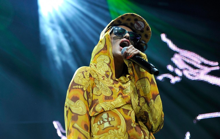 Singer M.I.A. performs during the World Premiere of the Smart for jeremy Showcar by Jeremy Scott at Jim Henson Studios in Hollywood, California. (John Sciulli/Getty Images)