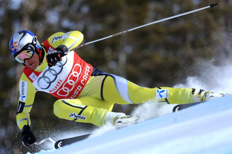 Aksel Lund Svidal of Norway descends the course during men's downhill training at the Audi FIS World Cup on the Birds of Prey in Beaver Creek, Colorado. (Doug Pensinger/Getty Images)