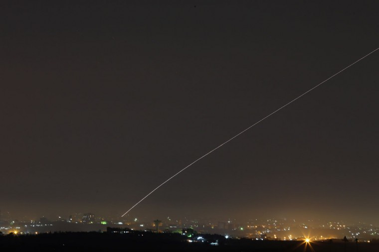 NOVEMBER 20: A militant rocket is launched towards Israel, hours before a proposed cease fire, on Israel's border with the Gaza Strip. (Christopher Furlong/Getty Images)