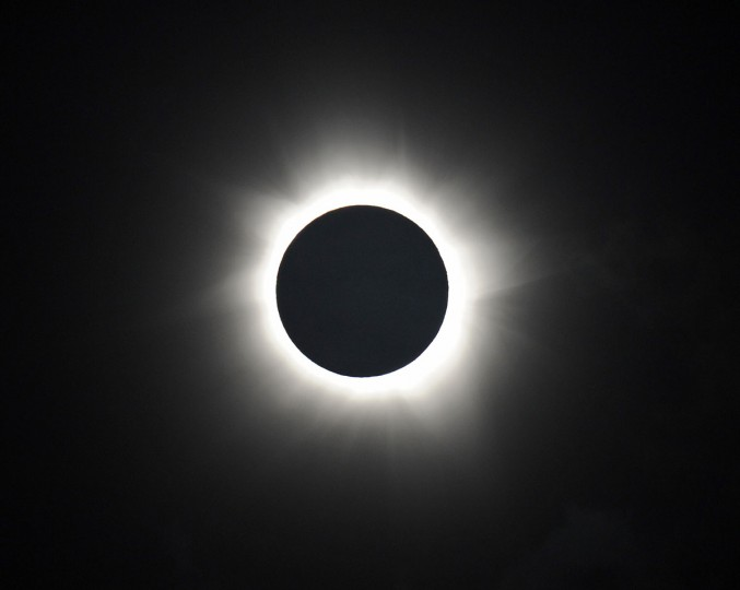 Totality is shown during the solar eclipse at Palm Cove in Australia's Tropical North Queensland on November 14, 2012. (Greg Wood/AFP/Getty Images)