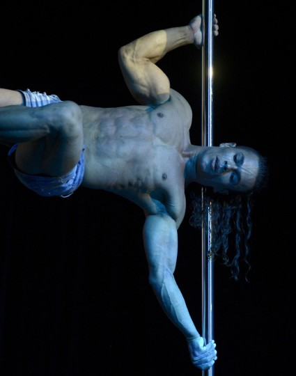 Brazilian pole dancer Carlos Franca competes win first place in the Pole Dance South America 2012 competition in Buenos Aires on November 26, 2012. (Juan Mabromata/AFP/Getty Images)
