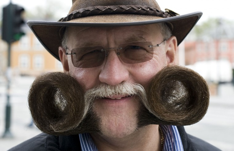 Germany's Dieter Besuch poses in the northern city of Trondheim in Norway on May 14, 2011 ahead of the Beards and Moustaches World Championship 2011 held in the city on May 15. (Jonathan Nackstrand/AFP/Getty Images)