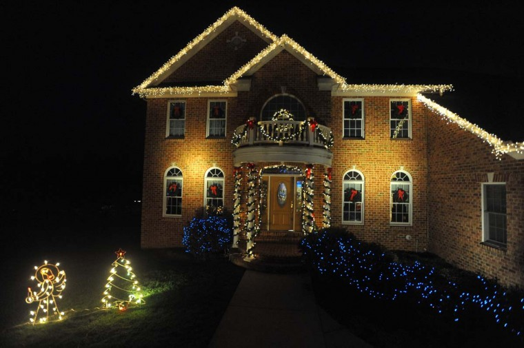 "The finished product with all the decorations installed by the Frederick, Md, company ""The King of Christmas"", on this Timonium home. (Gene Sweeney Jr./Baltimore Sun)"