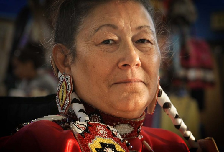 Phyllis Campbell of Blacksburg VA, is a member of the Choctaw Nation. She attended the 38th annual Baltimore American Indian Center Powwow, which was held at Patterson High School. (Barbara Haddock Taylor/Baltimore Sun)