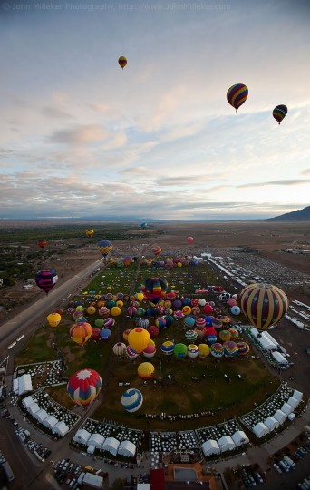Above Balloon Fiesta: Sometimes assignments require you to leave the ground and accept where the wind takes you.