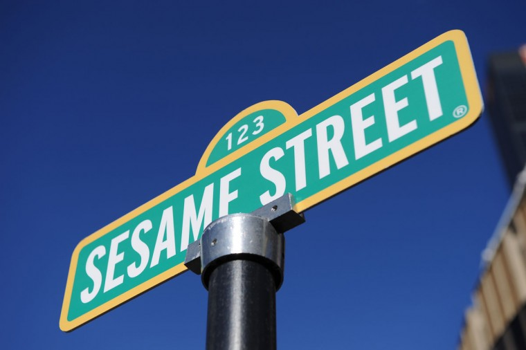 "With Sesame Street Live playing Madison Square Garden in New York, a temporary sign was put up briefly in 2010 renaming the corner of 31st Street and Eighth Avenue to ""123 Sesame Street. (Stan Honda/AFP/Getty Images)"