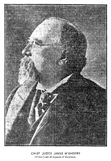 Photography debuted in The Sun on September 30, 1901, with the publication of a one-column image of Chief Judge James McSherry of the Maryland Court of Appeals. (Baltimore Sun)