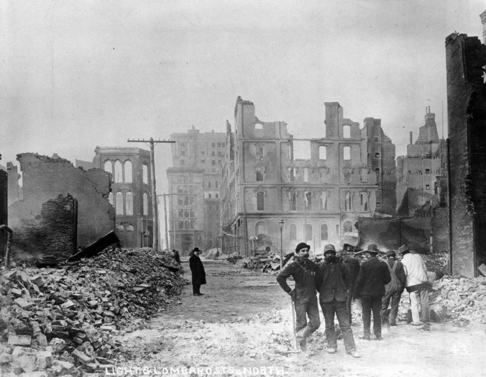 After the Great Fire swept Baltimore on February 7-8, 1904, more than 140 acres and 1,300 buildings lay in ruin. Damage was estimated at up to $150 million, nearly $4 billion in today's dollars. (Baltimore Sun)