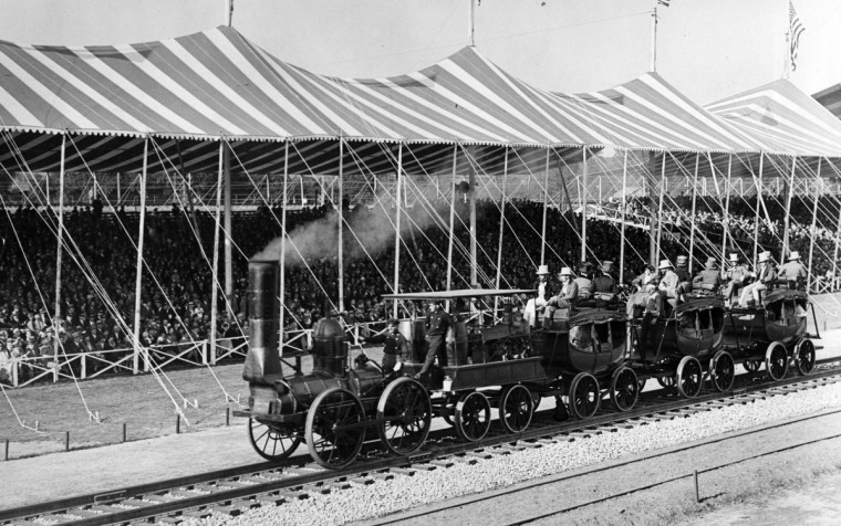 The Fair of the Iron Horse, which celebrated the centennial of the founding in 1827 of the B&O, the nation's first common carrier railroad, drew thousands to Halethorpe to witness a pageant of locomotives and humanity. (Baltimore Sun)