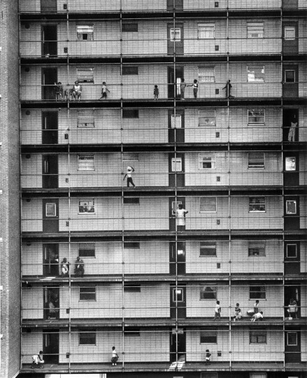 The Lafayette Courts high-rises on Aisquith Street opened to high hopes in 1955. But the public housing was plagued by drugs and crime and eventually demolished in 1995. (Richard Stacks/Baltimore Sun)