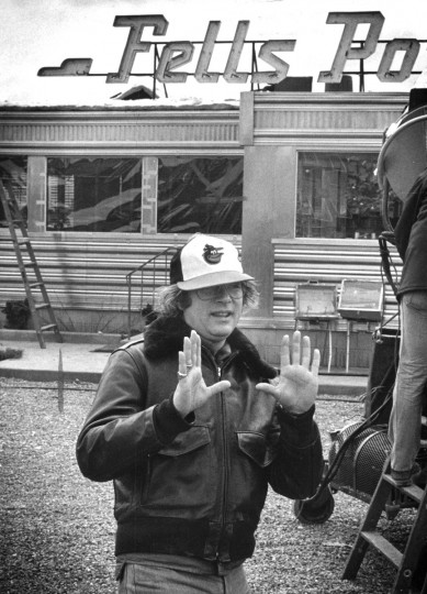 "Baltimore native Barry Levinson sets up a shot in 1980 during the filming of ""Diner,"" the first of four films that make up his ""Baltimore trilogy."" (Baltimore Sun)"