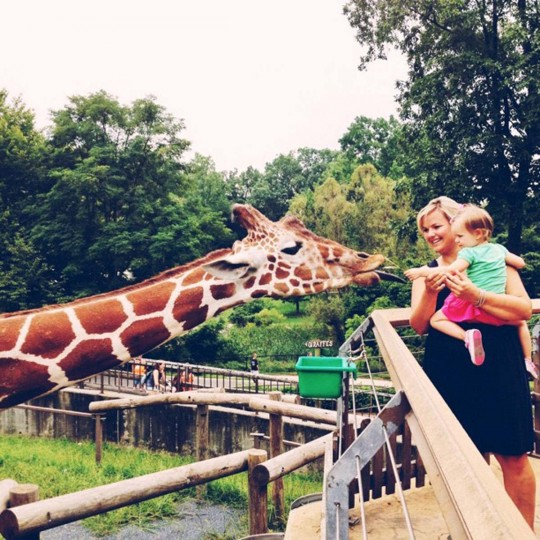 Almost photojournalism style, I took this at the zoo in Baltimore. It's really just a cute little girl feeding a giraffe, but I mean, who could not smile looking at that photo? (Credit: Josh Flynn)