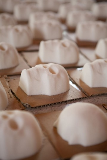 Sugar skulls await to be decorated at the Bone Garden cantina. (Renee Brock/Atlanta Journal-Constitution/MCT)
