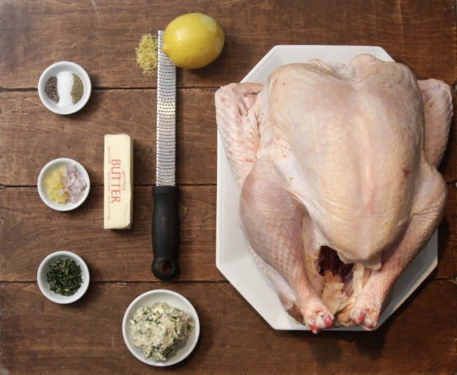 Several ingredients are needed to bake your perfect Thanksgiving Day, including softened butter, garlic, lemon zest, poultry seasoning, salt and pepper. Photo taken November 13, 2012. (Jarrad Henderson/Detroit Free Press/MCT)