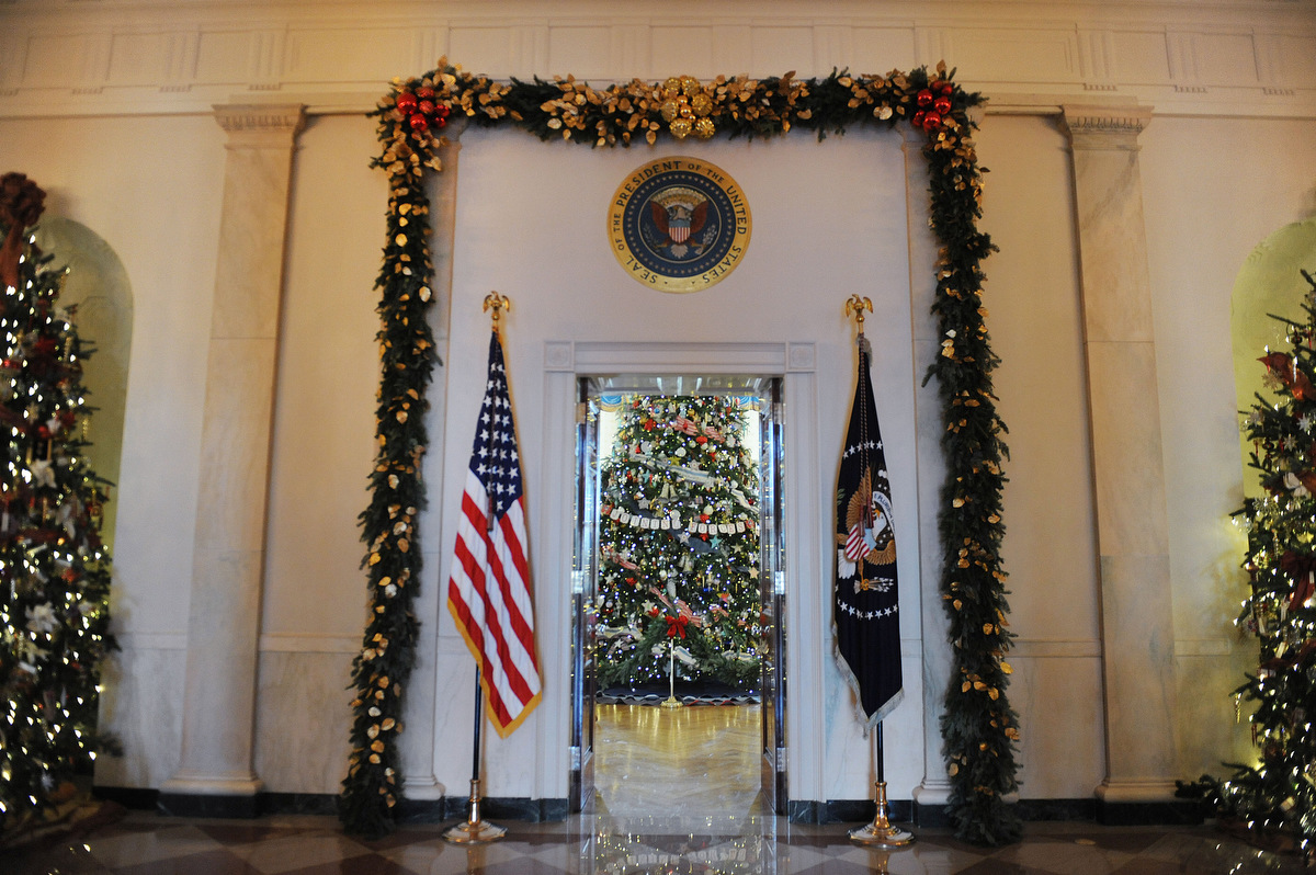 Holiday decorations at the white house are displayed during a press - Holiday Decorations At The White House Are Displayed During A Press 41