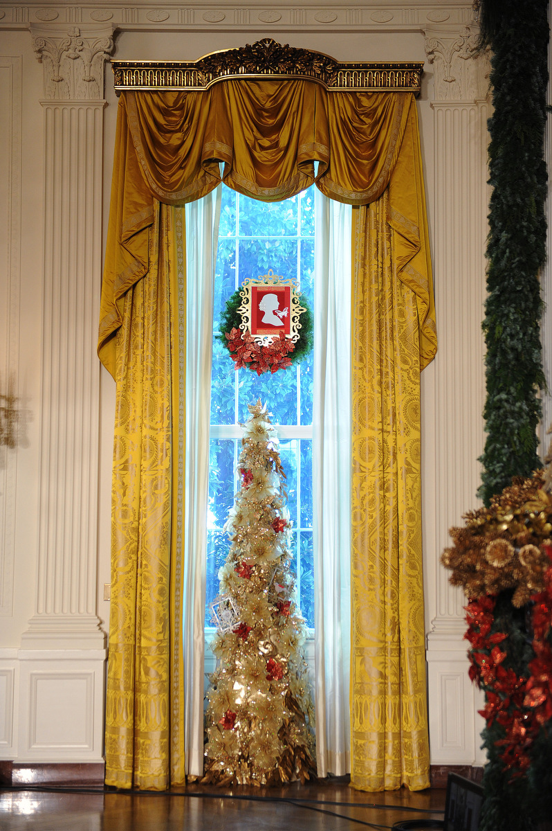 Holiday decorations at the white house are displayed during a press - Holiday Decorations At The White House Are Displayed During A Press 46