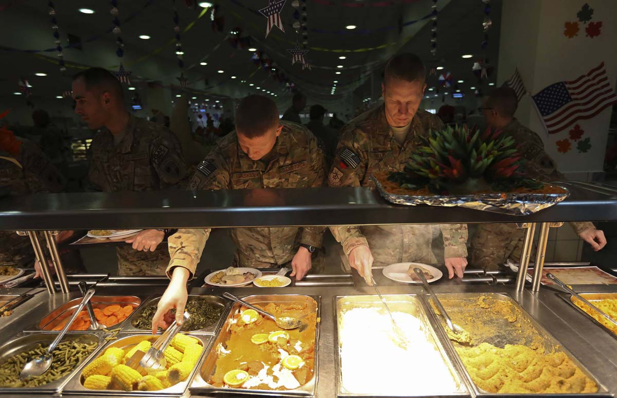 Soldiers celebrate Thanksgiving in Afghanistan