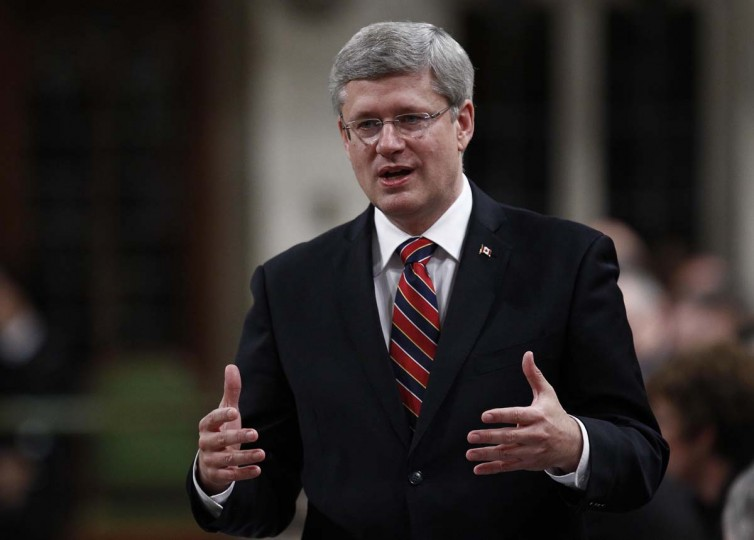 "Reuters — Prime Minister Stephen Harper congratulated Obama and said he was looking forward to cooperating on initiatives to generate jobs and growth on both sides of the border. ""This includes putting in place the transportation and security infrastructure necessary to take bilateral commercial relations to new heights and reducing red tape so companies on both sides of the border can create more jobs,"" Harper said in a statement. (Chris Wattie/Reuters)"