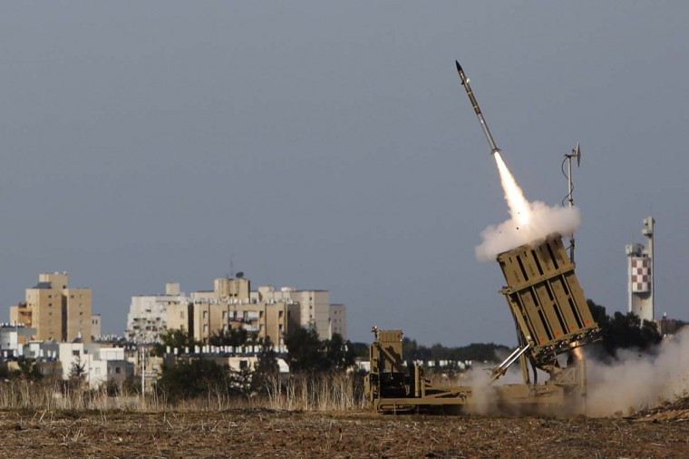NOVEMBER 16 — An Iron Dome launcher fires an interceptor rocket in the southern city of Ashdod November 16, 2012. A ceasefire that Israel declared for a visit by Egypt's prime minister to the Gaza Strip on Friday collapsed after Palestinians continued cross-border rocket attacks and Israel launched air strikes in the enclave. (Amir Cohen/Reuters)