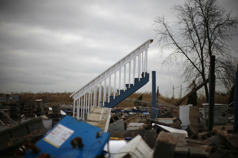 A home destroyed by Hurricane Sandy is seen in the Staten Island borough of New York. (Eric Thayer/Reuters)