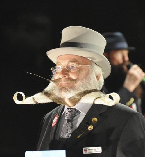 Hans-Peter Weis of Pforzheim, Germany wins the Gold Medal in the Full Beard Freestyle competition at the Beard Team USA National Beard and Moustache Championships in Las Vegas, Nevada November 11, 2012. (Glenn Pinkerton/Las Vegas News Bureau/Handout /Reuters)
