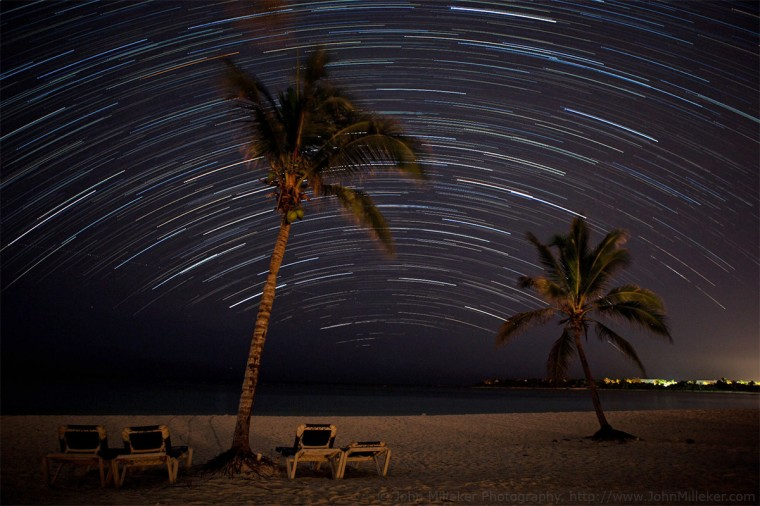 Cancun Star Trails: I wish I could say we vacationed in Cancun to shoot some star trails for an upcoming presentation on long exposure and night-time photography. Well, at least it was a happy accident that I had the perfect place to get my star trail shots. This is a 40 minute shot taken on the beach.
