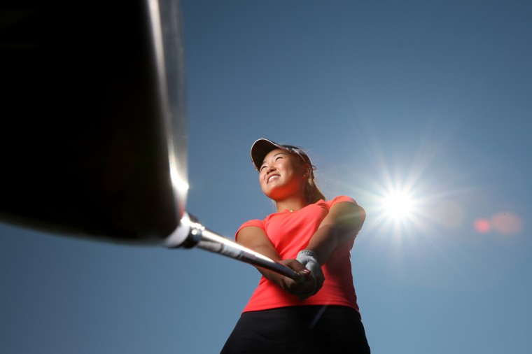 """Rachel Lee poses for a photo at Waverly Woods Golf Course in Marriottsville on Thursday, Aug. 23, 2012. She was the golf """"Player to Watch."""" (Jen Rynda/Baltimore Sun Media Group)"""