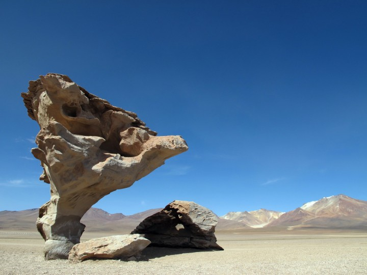 "The winner for this week's Reader SunShots series ""Balance"" goes to Chris Feroli for his picture of an unusual rock formation in the Bolivan Alitplano which sits at approximately 14,000 feet. The picture was taken with a Canon G2 camera. Here is a critique by Baltimore Sun director of photography Robert K. Hamilton: This is not only a striking image, but is humorous interpretation of the category. I like that the photographer chose an asymmetrical approach to the composition by not centering the rock formation."