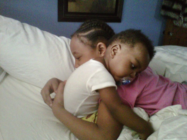 """The winner for this week's Reader SunShots series """"Love"""" goes to Crystal Washington Hall for her picture of her grandchildren embracing early one morning. She took this picture with her cell phone. Here is a critique by Baltimore Sun director of photography Robert K. Hamilton: """"I thought this was a nice tender moment and I like that the photographer used the tool that was handy, namely her cellphone. Though cell phones generally tend to produce lower quality images, it beats not having picture at all. So kudos to the photographer for being prepared."""""""
