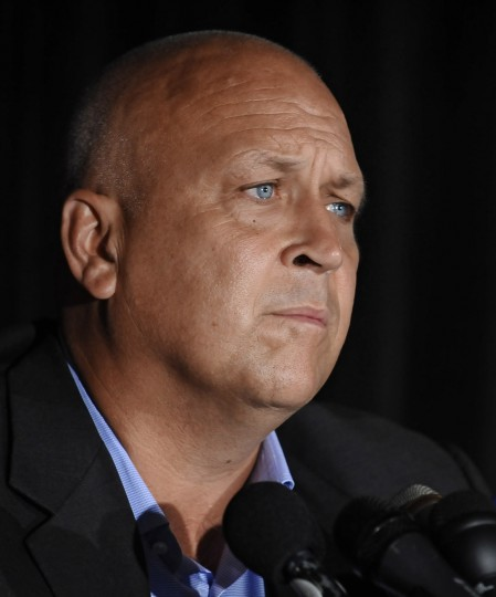 A choked-up Cal Ripken Jr., talks about when he first learned of his mother's abduction during a press conference at Camden Yards. The press conference was on the investigation of the abduction and subsequence safe return of his mother Vi Ripken at her home in Aberdeen. (Kenneth K. Lam/Baltimore Sun)