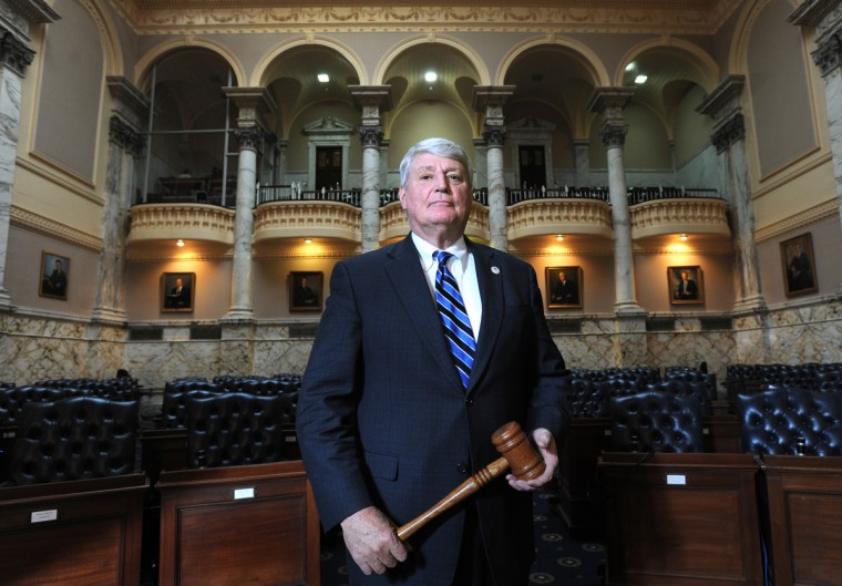 Michael E. Busch, Speaker, House of Delegates, is about to become the longest-serving Marylander at the head of the House of Delegates. He's pictured in the House of Delegates in the State House. (Algerina Perna/Baltimore Sun)