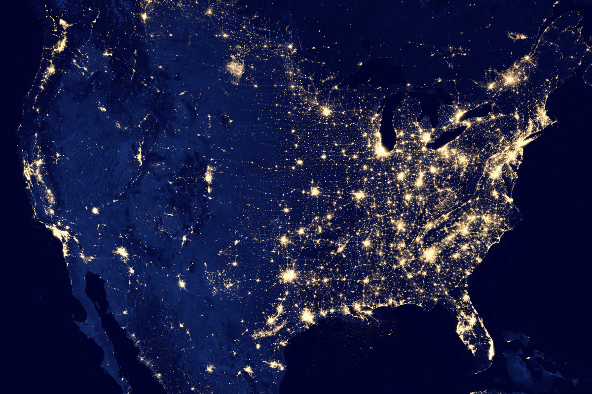 The Earth at night – NASA Earth Observatory's Black Marble images