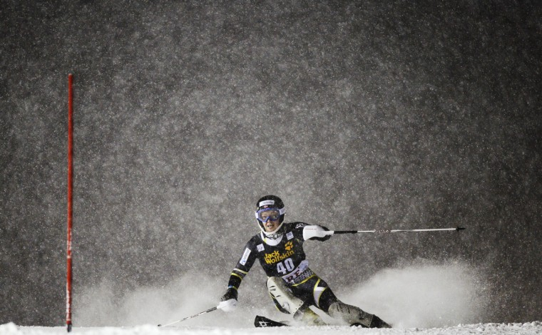 Norway's Nina Loeseth competes during the first run of the FIS Alpine Ski World Cup women's slalom in Are, Sweden. (Jonathan Nackstrand/Getty Images)