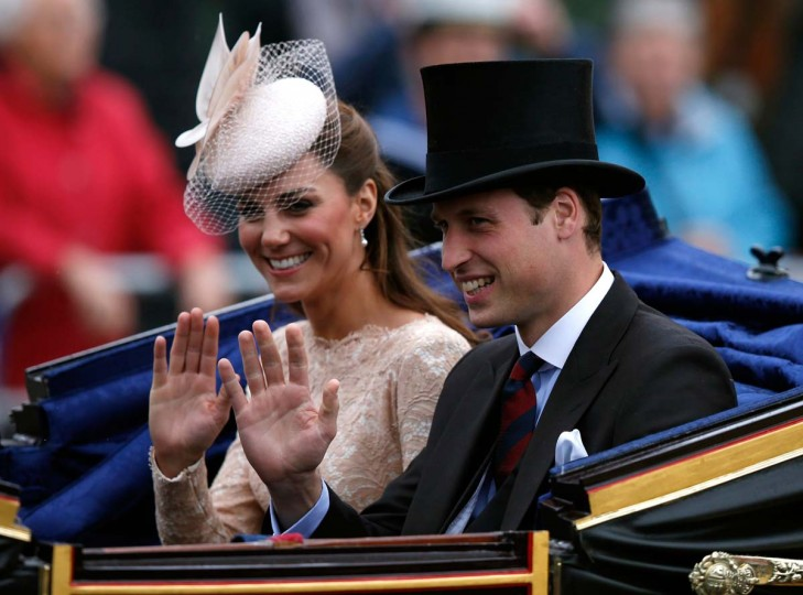 Catherine, Duchess of Cambridge and Prince William, Duke of Cambridge wave to spectators as they leave Westminster Hall during the Diamond Jubilee celebrations on June 5, 2012 in London, England. (Kevin Coombs - WPA Pool/Getty Images)