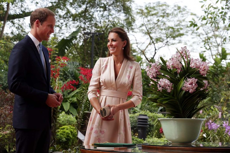 Catherine, Duchess of Cambridge and Prince William, Duke of Cambridge visit Singapore Botanical Gardens on Day 1 of their Diamond Jubilee tour on September 11, 2012 in Singapore. (Nicky Loh/Getty Images)