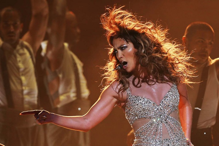 Jennifer Lopez performs for fans at Perth Arena on December 6, 2012 in Perth, Australia. (Paul Kane/Getty Images)