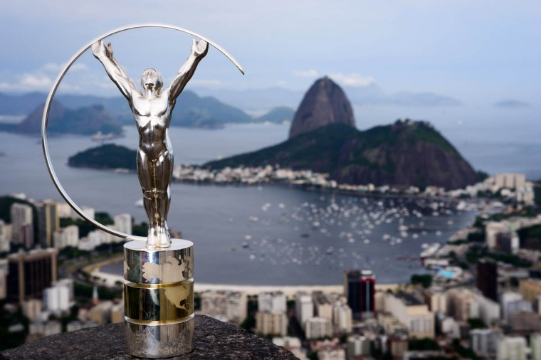 Laureus Statuette is unveiled in Rio De Janeiro, Brazil. (Buda Mendes/Getty Images)