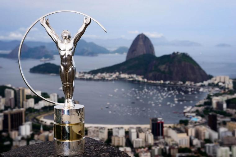 Laureus Statuette is unveiled in Rio De Janeiro, Brazil. (Buda Mendes/Getty Images)