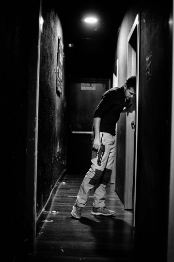 Actor Fernando Gomez waits backstage to enter his 'No Abortamos' micro theater show at the 'Micro Teatro por Dinero' on December 15, 2012 in Madrid, Spain. With each show priced at four Euros, over 150,000 spectators have already attended performances at the tiny theatre in the Malasana area. (Jasper Juinen/Getty Images)
